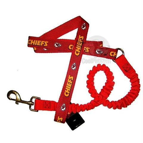 Kansas City Chiefs Bungee Ribbon Pet Leash