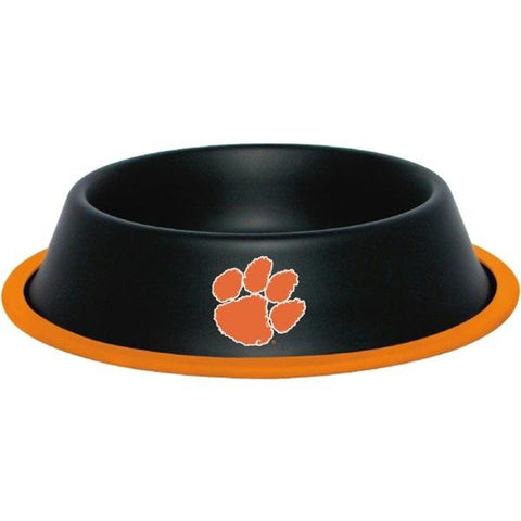 Clemson Tigers Gloss Black Pet Bowl