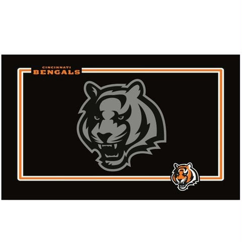 Cincinnati Bengals Black Pet Bowl Mat