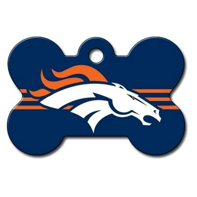 Denver Broncos Bone ID Tag