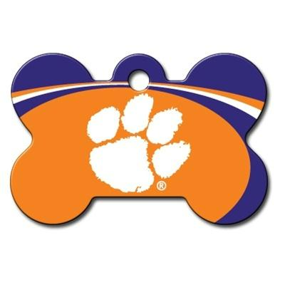 Clemson Tigers Bone ID Tag