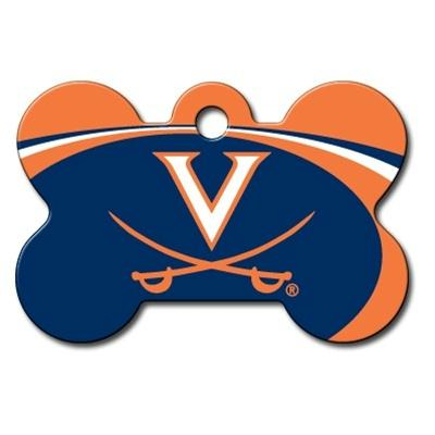 Virginia Cavaliers Bone ID Tag