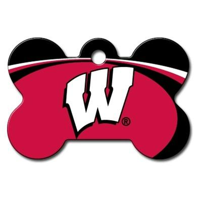 Wisconsin Badgers Bone ID Tag
