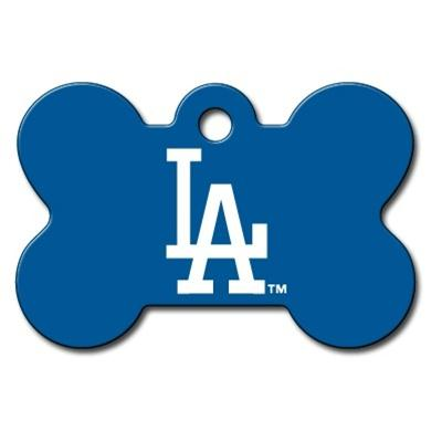 Los Angeles Dodgers Bone ID Tag