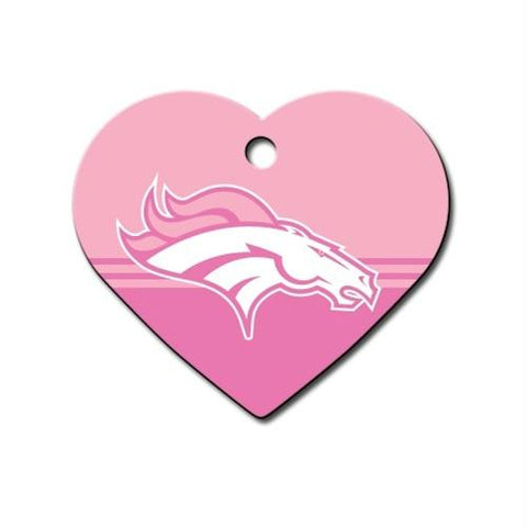 Denver Broncos Heart ID Tag