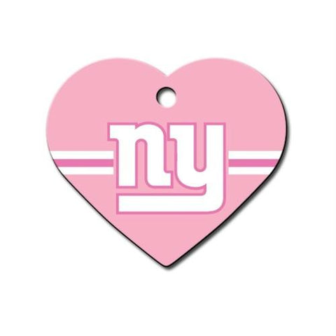 New York Giants Heart ID Tag