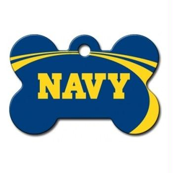 Navy Midshipmen Bone ID Tag