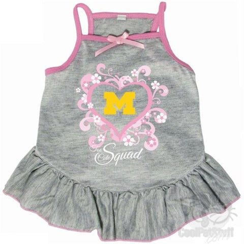 "Michigan Wolverines ""Too Cute Squad"" Pet Dress"