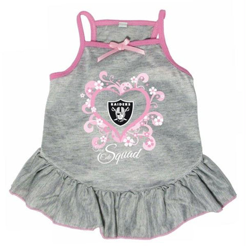 "Oakland Raiders ""Too Cute Squad"" Pet Dress - X-Small"