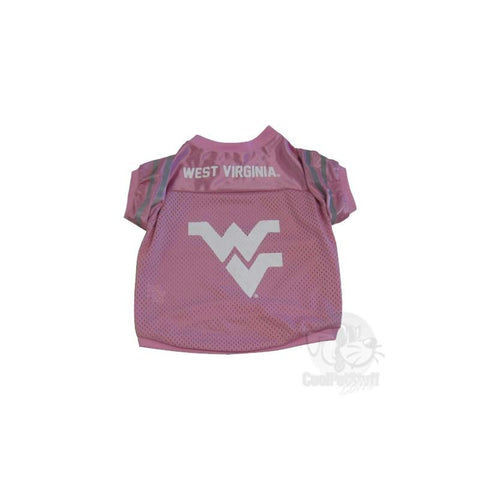 West Virginia Mountaineers Collegiate Pink Pet Jersey