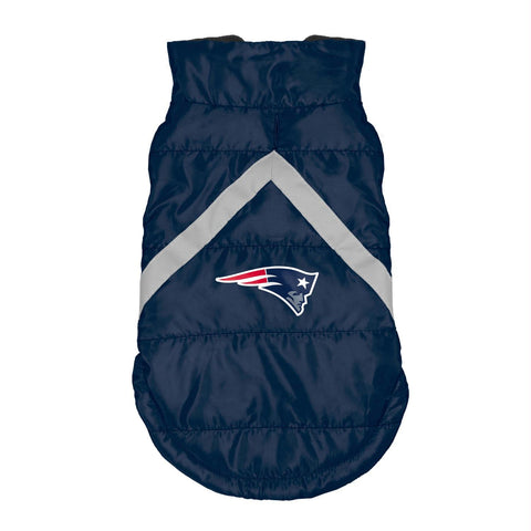 New England Patriots Pet Puffer Vest