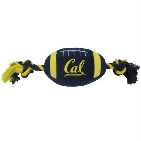Cal Berkeley Golden Bears Plush Football Pet Toy
