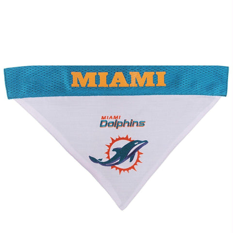 Miami Dolphins Pet Reversible Bandana