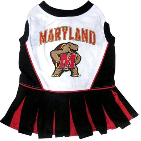 Maryland Terrapins Cheerleader Pet Dress