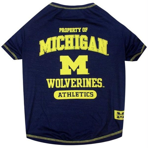 Michigan Wolverines Pet Tee Shirt