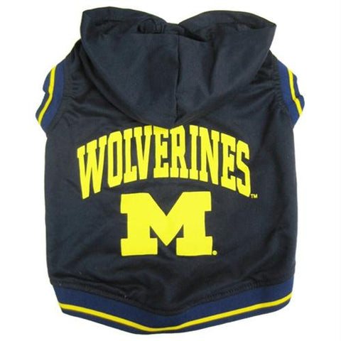 Michigan Wolverines Pet Hoodie Tee Shirt