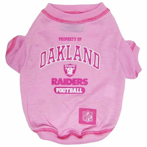 Oakland Raiders Pink Pet T-Shirt