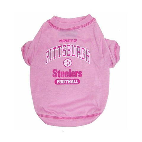 Pittsburgh Steelers Pink Dog T-Shirt