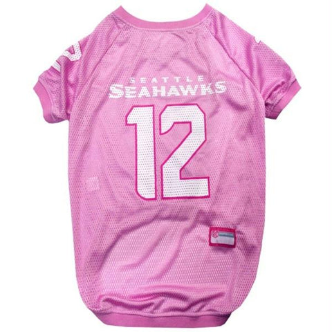 "Seattle Seahawks ""12th Man"" Pink Pet Jersey - X-Small"