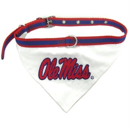 Ole Miss Rebels Dog Collar Bandana