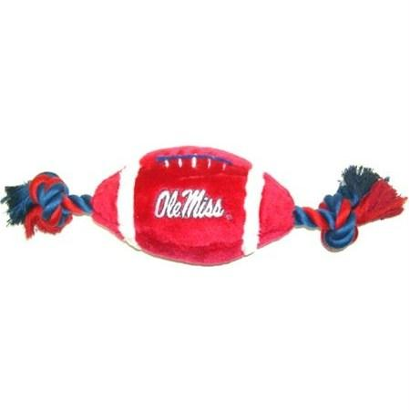 Ole Miss Rebels Plush Football Dog Toy