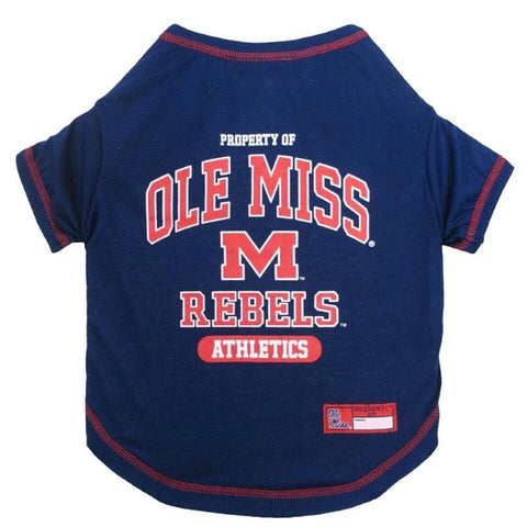 Ole Miss Rebels Pet Tee Shirt