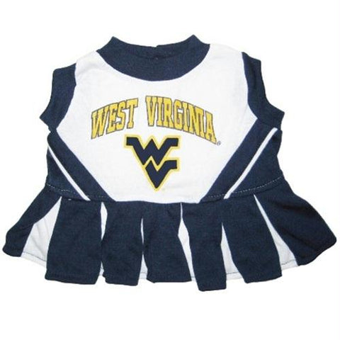 West Virginia Mountaineers Cheerleader Pet Dress