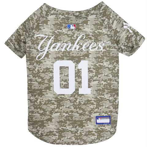 New York Yankees Pet Camo Jersey