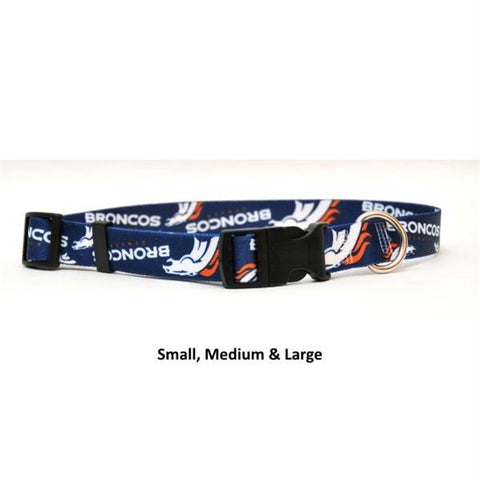 Denver Broncos Nylon Collar - Large