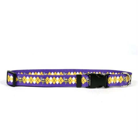 Minnesota Vikings Argyle Nylon Collar
