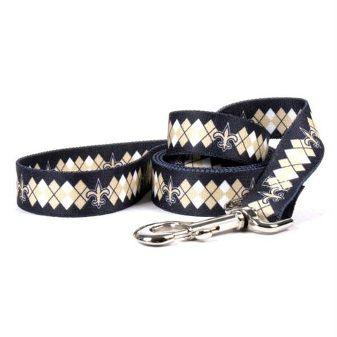 New Orleans Saints Argyle Nylon Leash