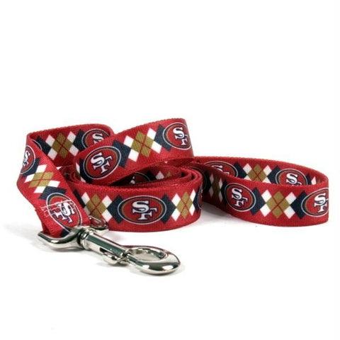 San Francisco 49ers Argyle Nylon Leash