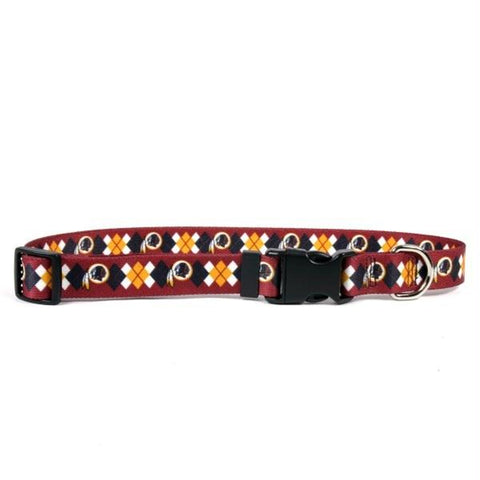 Washington Redskins Argyle Nylon Collar