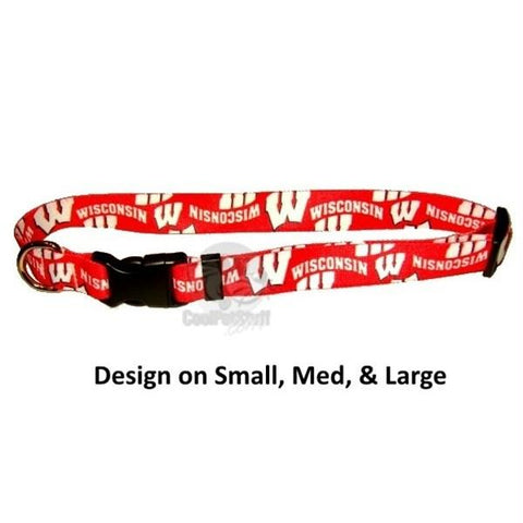 Wisconsin Badgers Nylon Collar