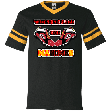 There's no place like MaHOMEs V-Neck Sleeve Stripe Jersey