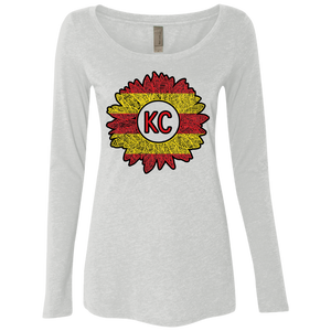 Chiefs Sunflower Ladies' Triblend LS Scoop