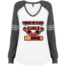 There's no place like MaHOMEs Ladies' Game LS V-Neck T-Shirt