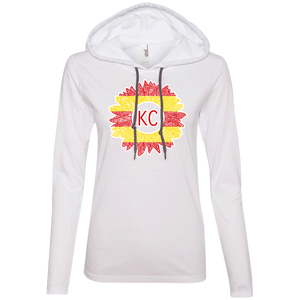 Chiefs Sunflower Ladies' LS T-Shirt Hoodie