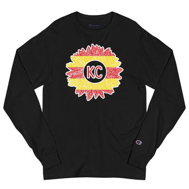Chiefs Sunflower Men's Champion Long Sleeve Shirt