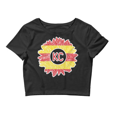 Chiefs Sunflower Women's Crop Tee