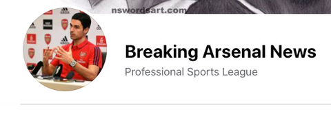 Arsenal Breaking News is an awesome Facebook page.