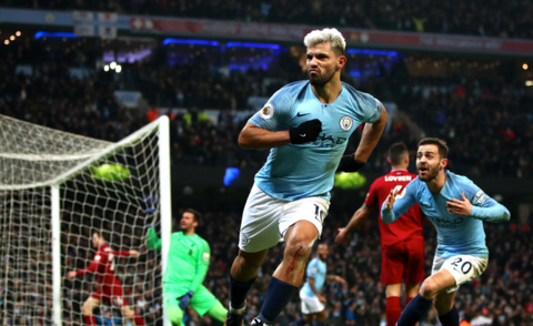 English Premier League Manchester City Sergio Aguero