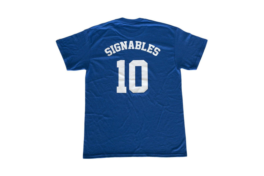 Signables Collectibles T-Shirt in blue back