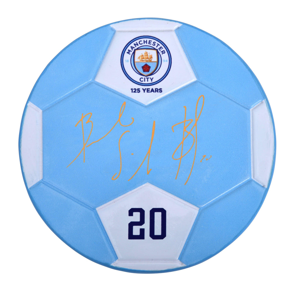 Front of Bernardo Silva Manchester City F.C. Signable with facsimile signature