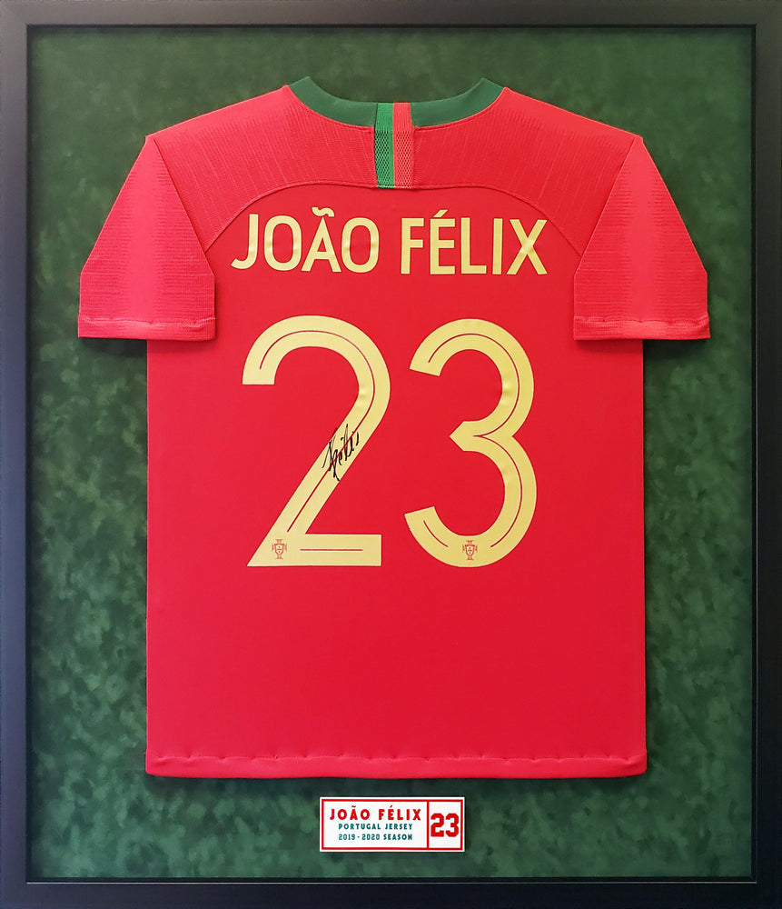 Joao Felix Back Signed Portugal 2019-20 Home Jersey Framed