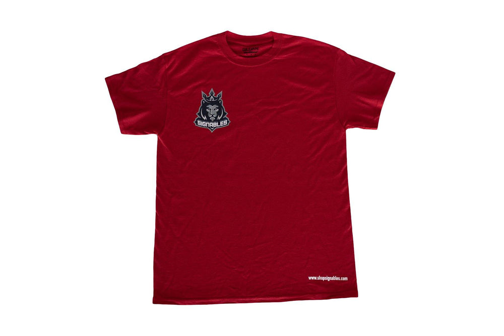 Signables Collectibles T-Shirt in red front