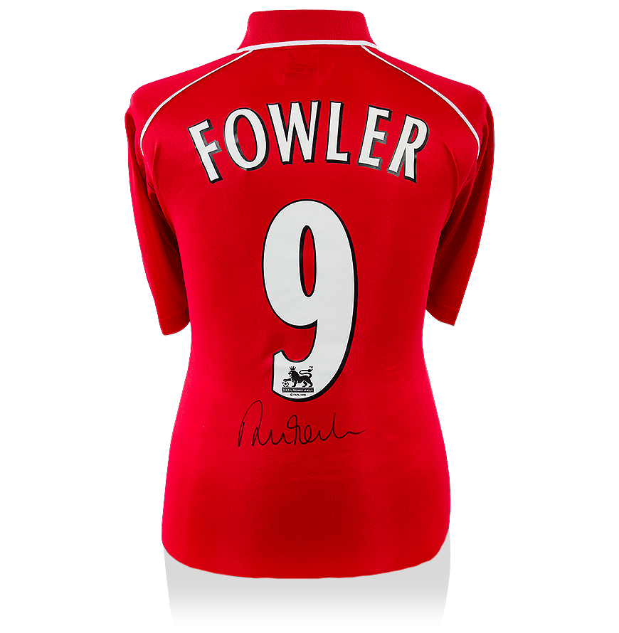 Robbie Fowler Back Signed Liverpool 2000-01 Home Shirt