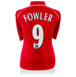 Robbie Fowler Back Signed Liverpool 2000-01 Home Jersey