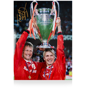 Teddy Sheringham Signed Manchester United Photo: 1999 UEFA Champions League Winner