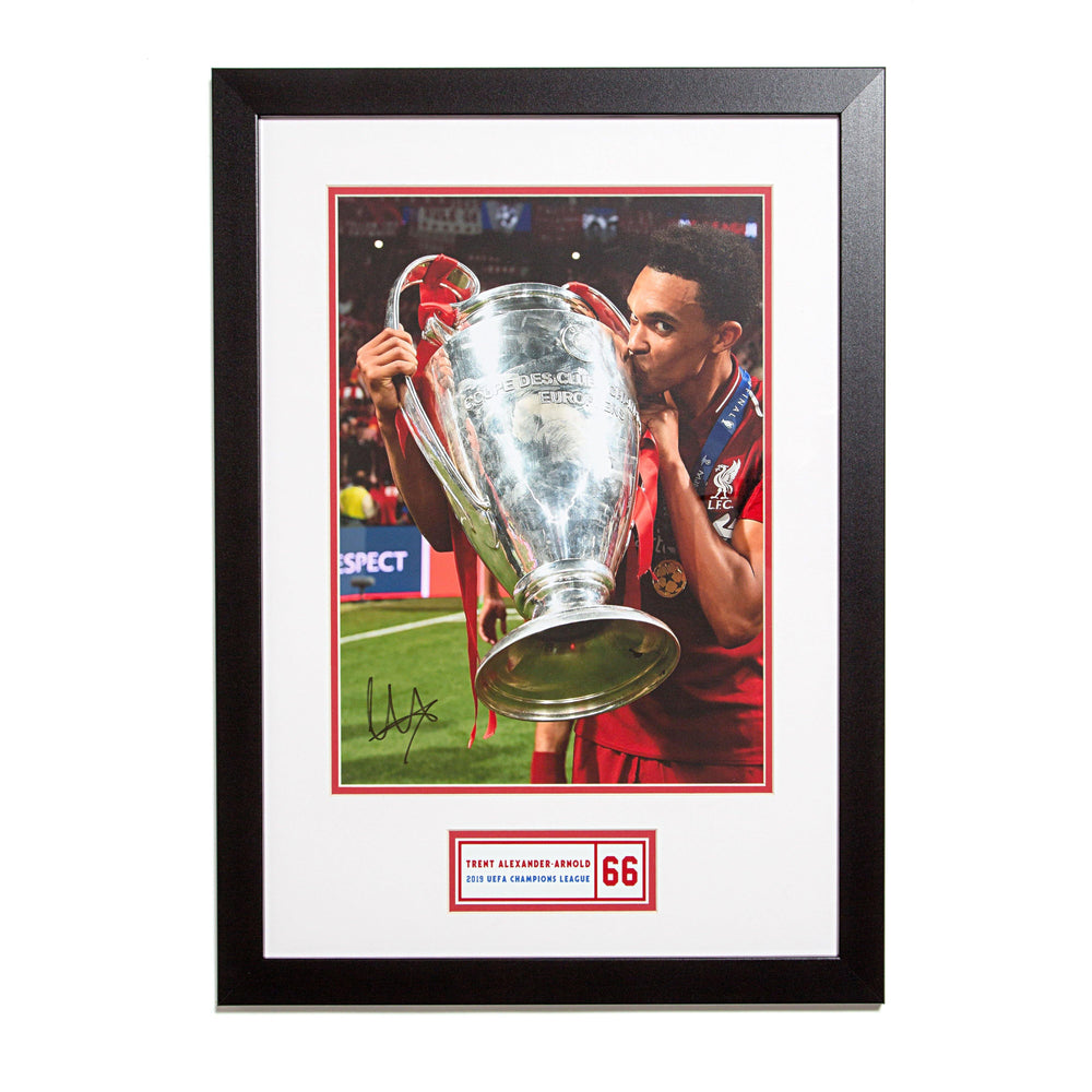 Trent Alexander-Arnold Signed Liverpool Photo: 2019 UEFA Champions League Winner in Wood Frame
